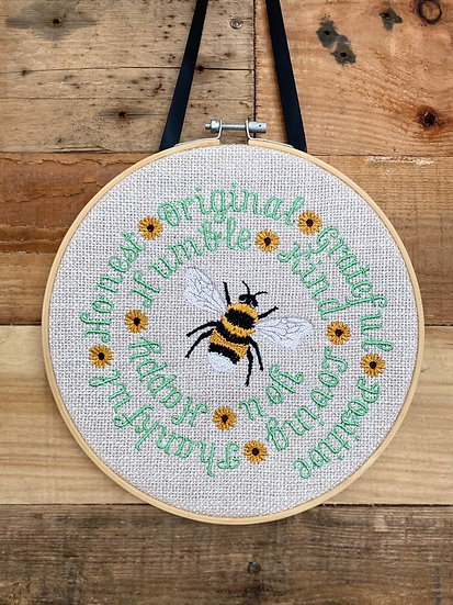 bee hanging decoration - positive words