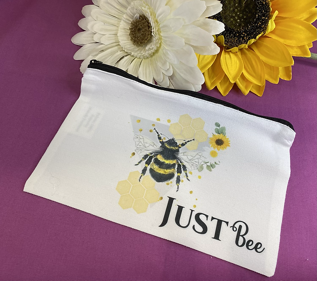 Just Bee  Make up bag/zipped pouch