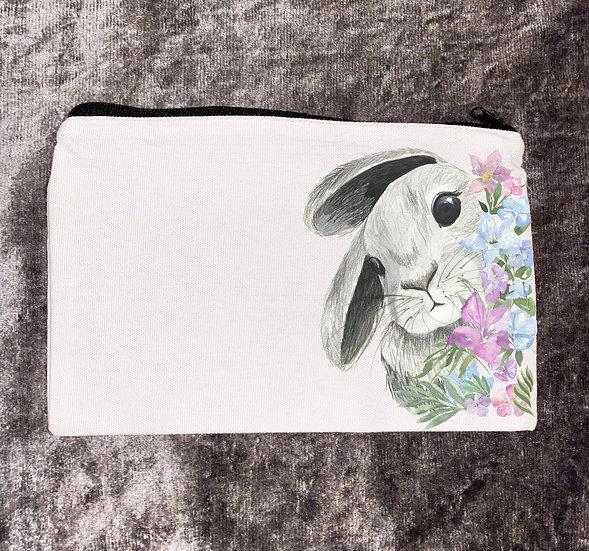 Rabbit Make up bag/zipped pouch