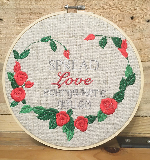 Spread Love Everywhere You Go wall hanging