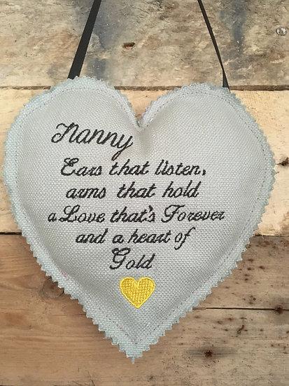 Nanny Poem Hanging Heart