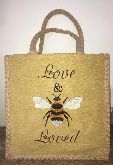 Love and Bee Loved Jute Bag