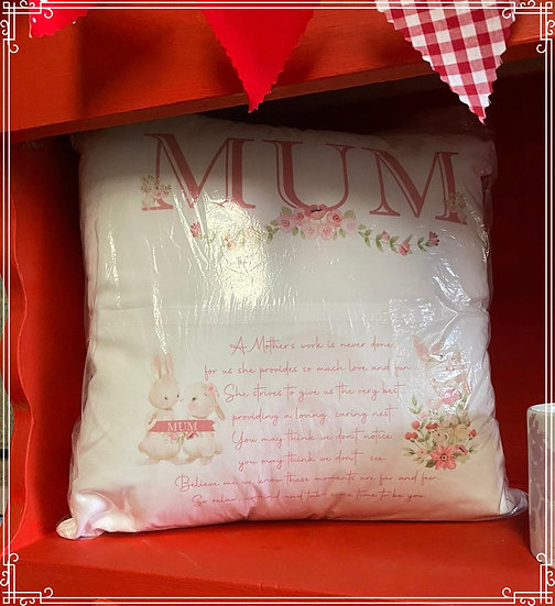 mother's day / mum's birthday reading cushion/pillow