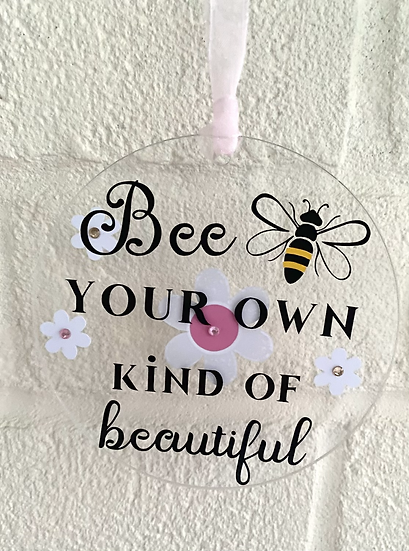 Bee hanging decoration 🐝 - bee your own kind of beautiful