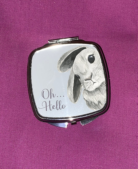 Rabbit handbag mirror - Mother's Day / Easter / birthday Gift
