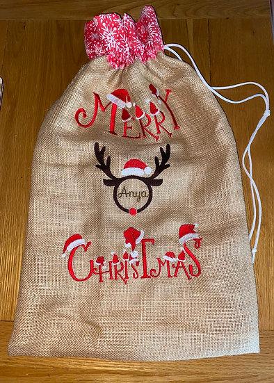 Personalised Santa's Christmas present sack