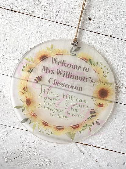 Teachers classroom sign - motivational sign
