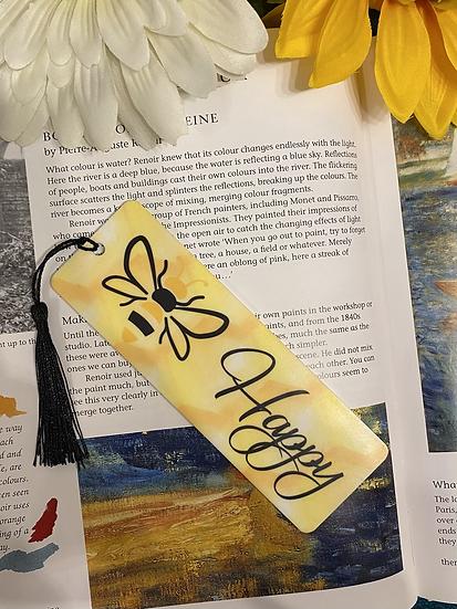 Bee happy bookmark
