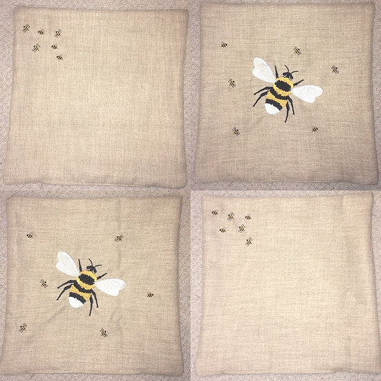 Set of 4 bumble bee cushion covers