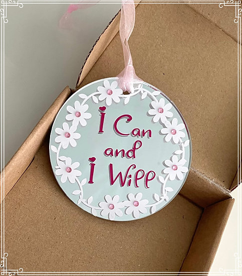 I can and I will gift hanging decoration