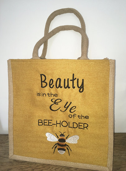 Bumble Bee Jute Bag - Beauty is in the eye of the bee-holder