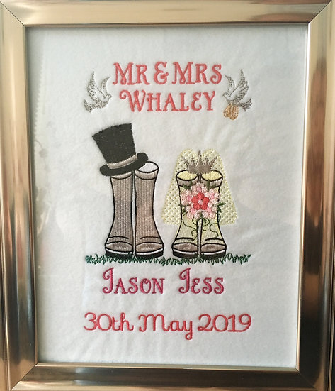 Wedding 'wellies' keepsake