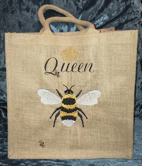 Queen Bee Jute Bag