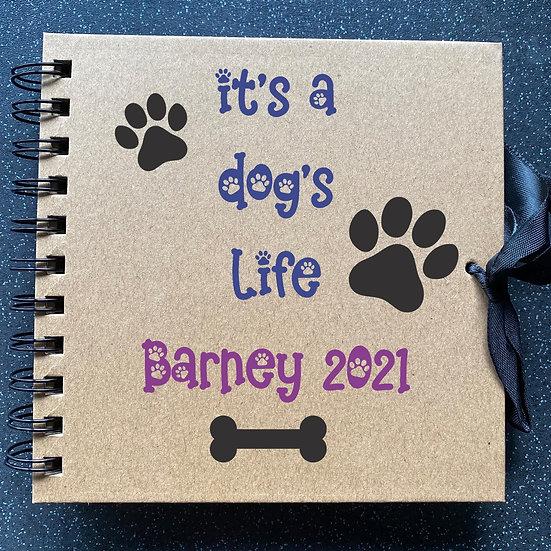 Dog pet scrapbook album memory keepsake