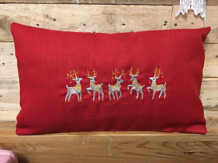 Christmas cushion dancing reindeer