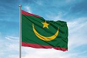 Mauritania national flag cloth fabric wa