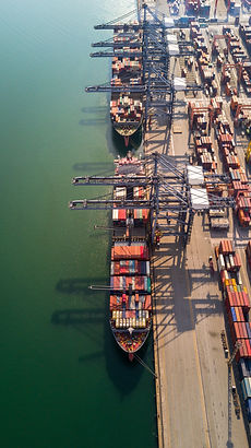 Aerial view container ship shipping carg