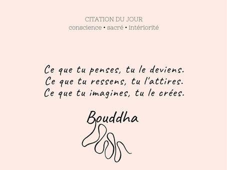 Ce que tu imagines, tu le crées - Bouddha 🦋🌸🌞✨