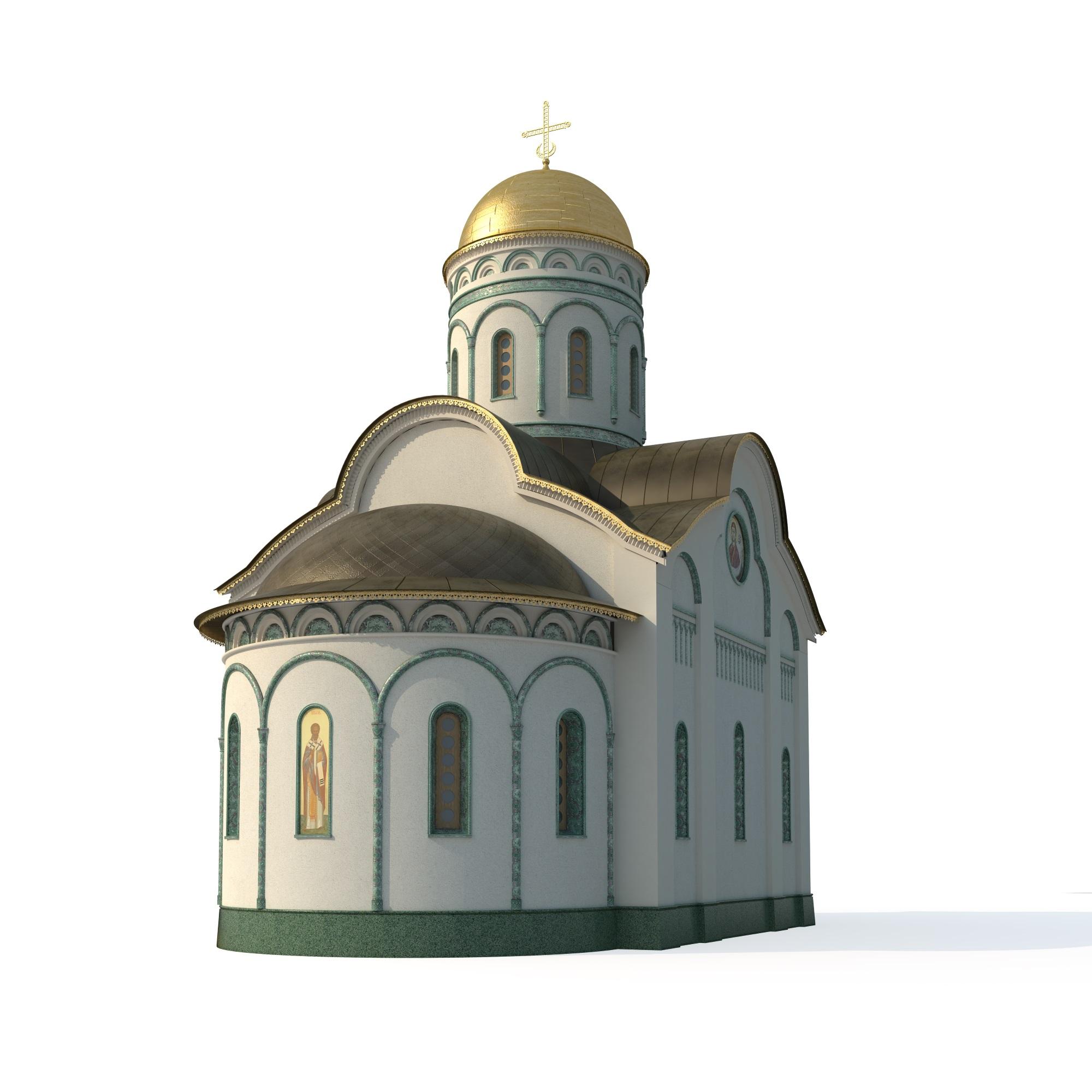 Дизайн-проект храма.Сургут.