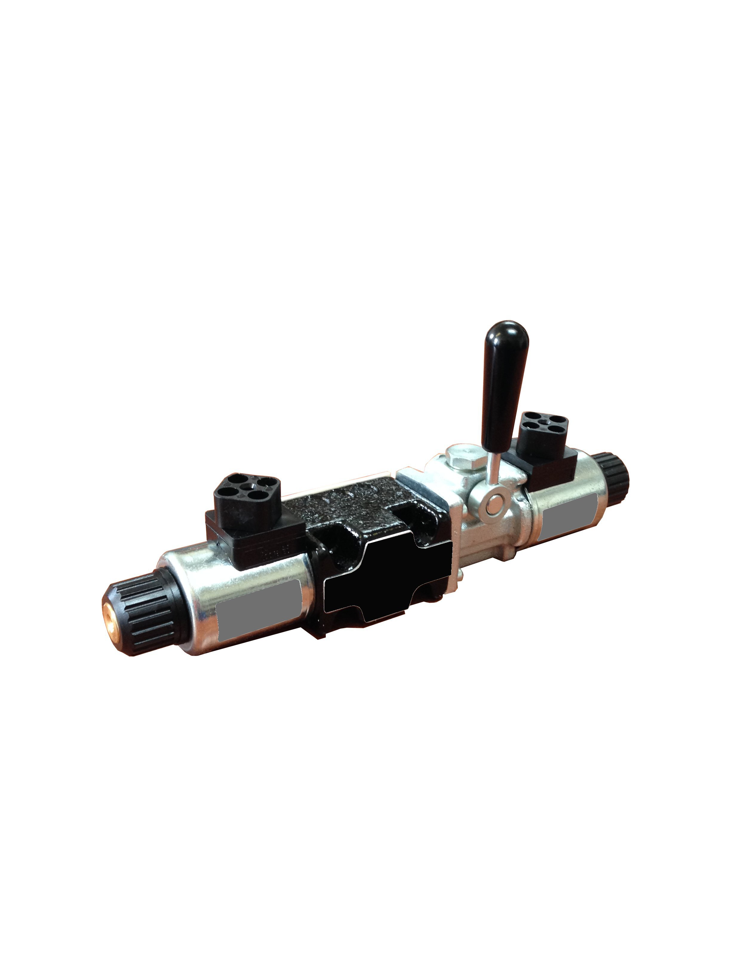 Solenoid valve with lever