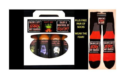 Salem's Lott Gift Box of 4 Plus Socks!