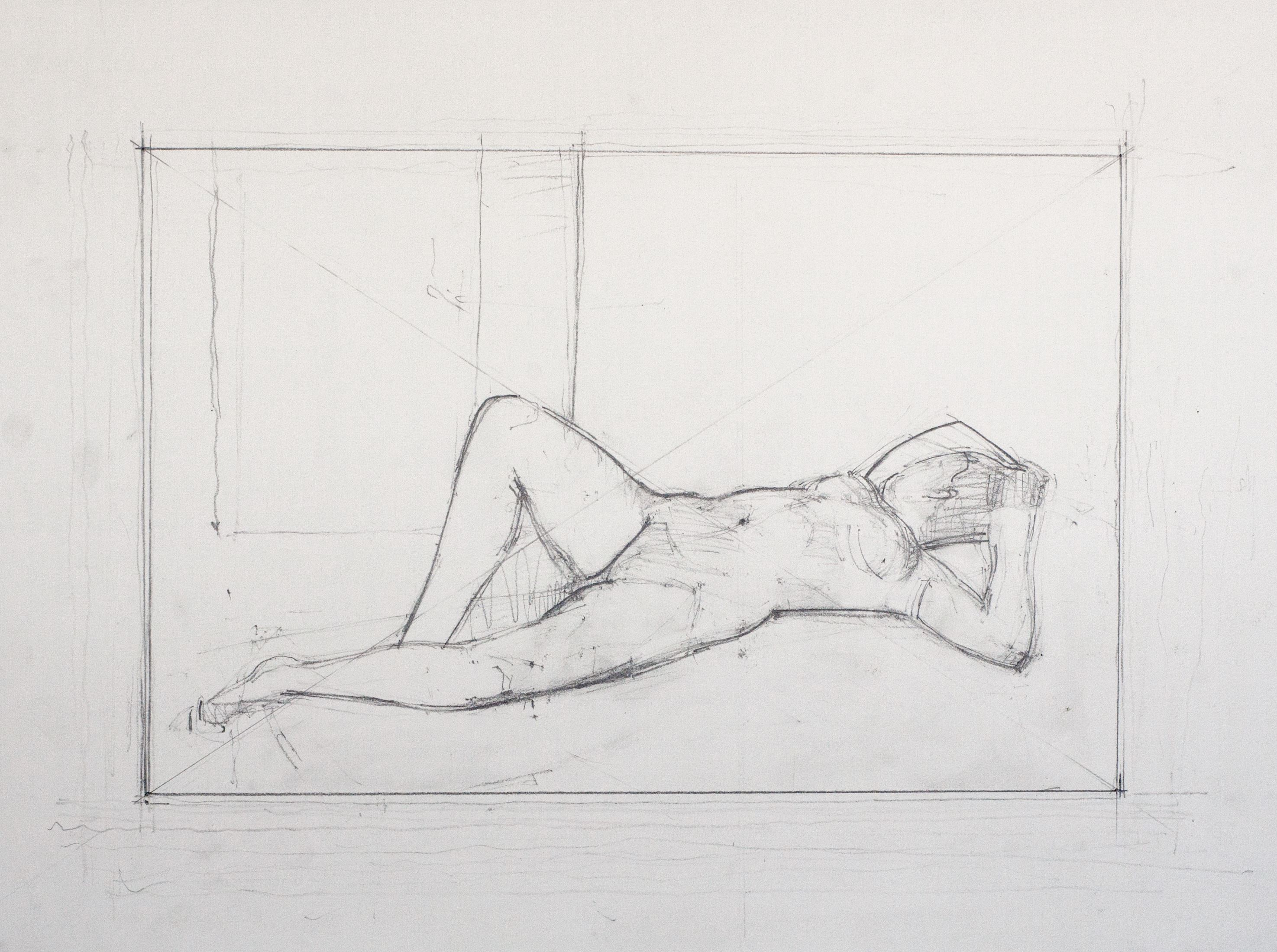 Reclining Diagonal, Raised Leg, 2011