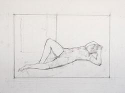 Reclining Diagonal, Raised Leg, 2011