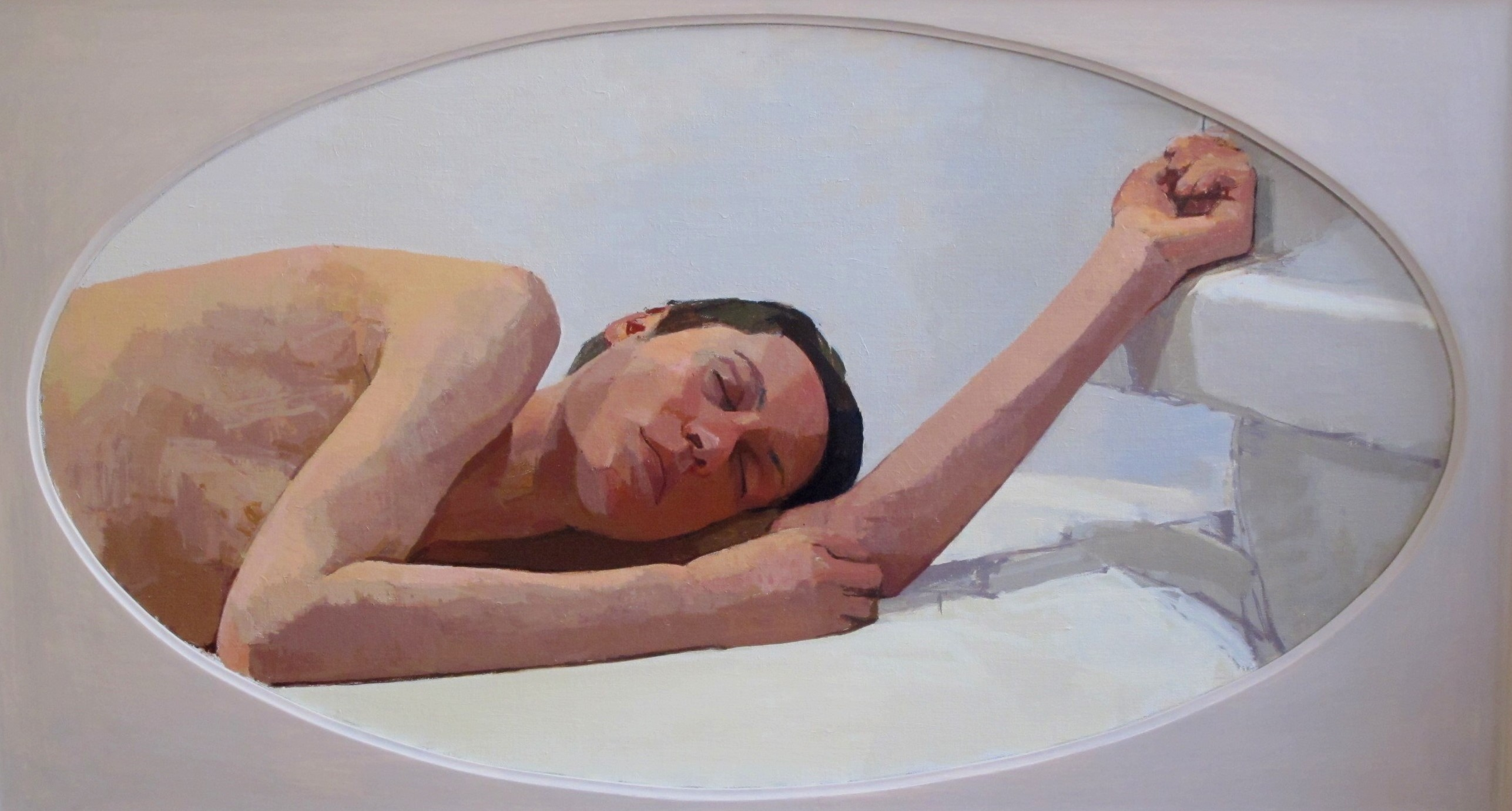 Reclining Head & Arm II (oval), 2007