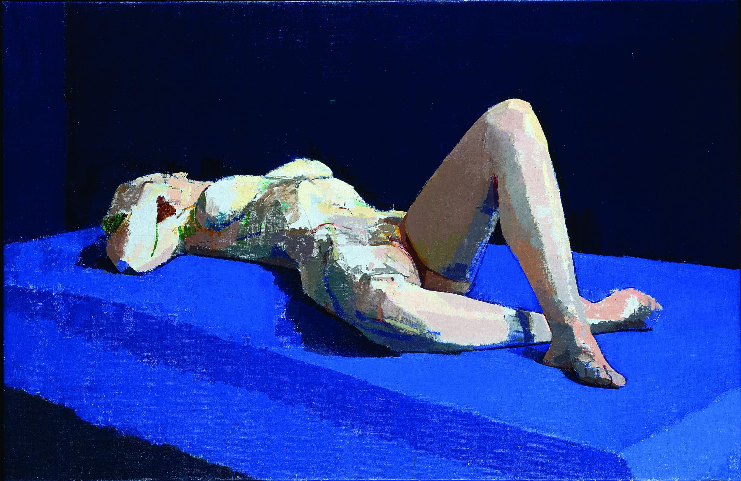 Blue nude, 2002