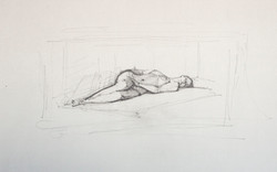 Reclining nude, Face on, 2012