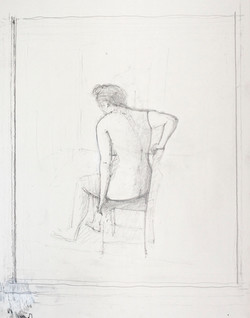 Study for Reclining Back IV, 2013
