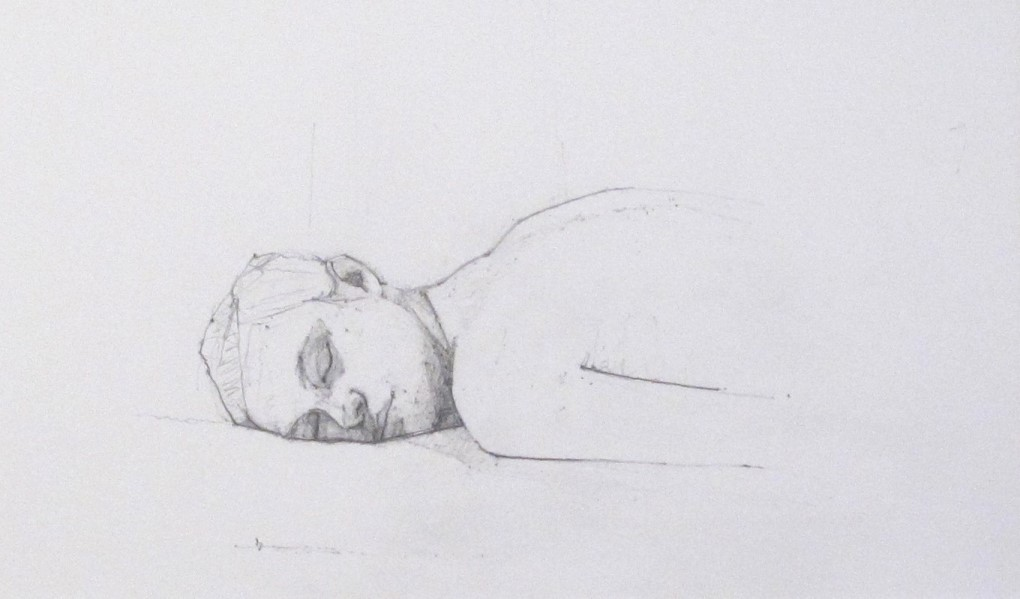 Eyes closed - reclining Head, 2007