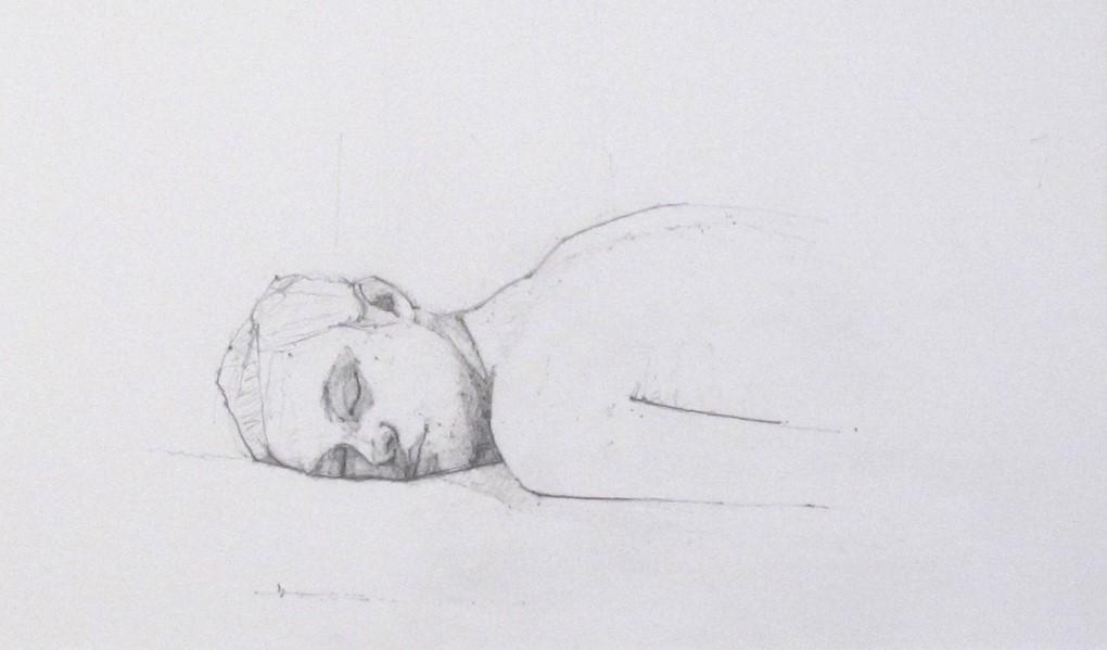 Eyes closed - reclining Head, 2007