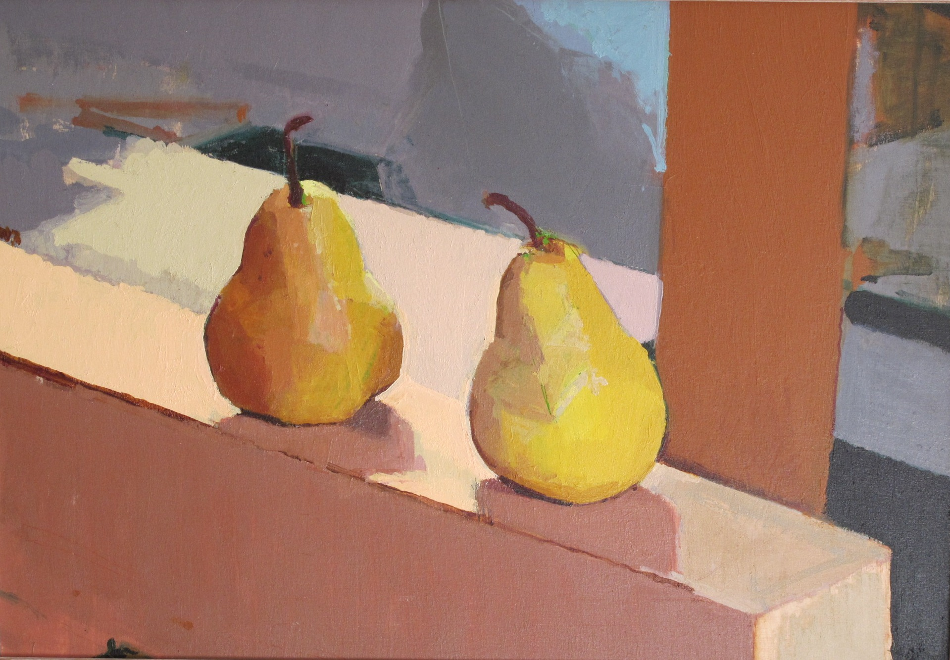 Pears against Mount V