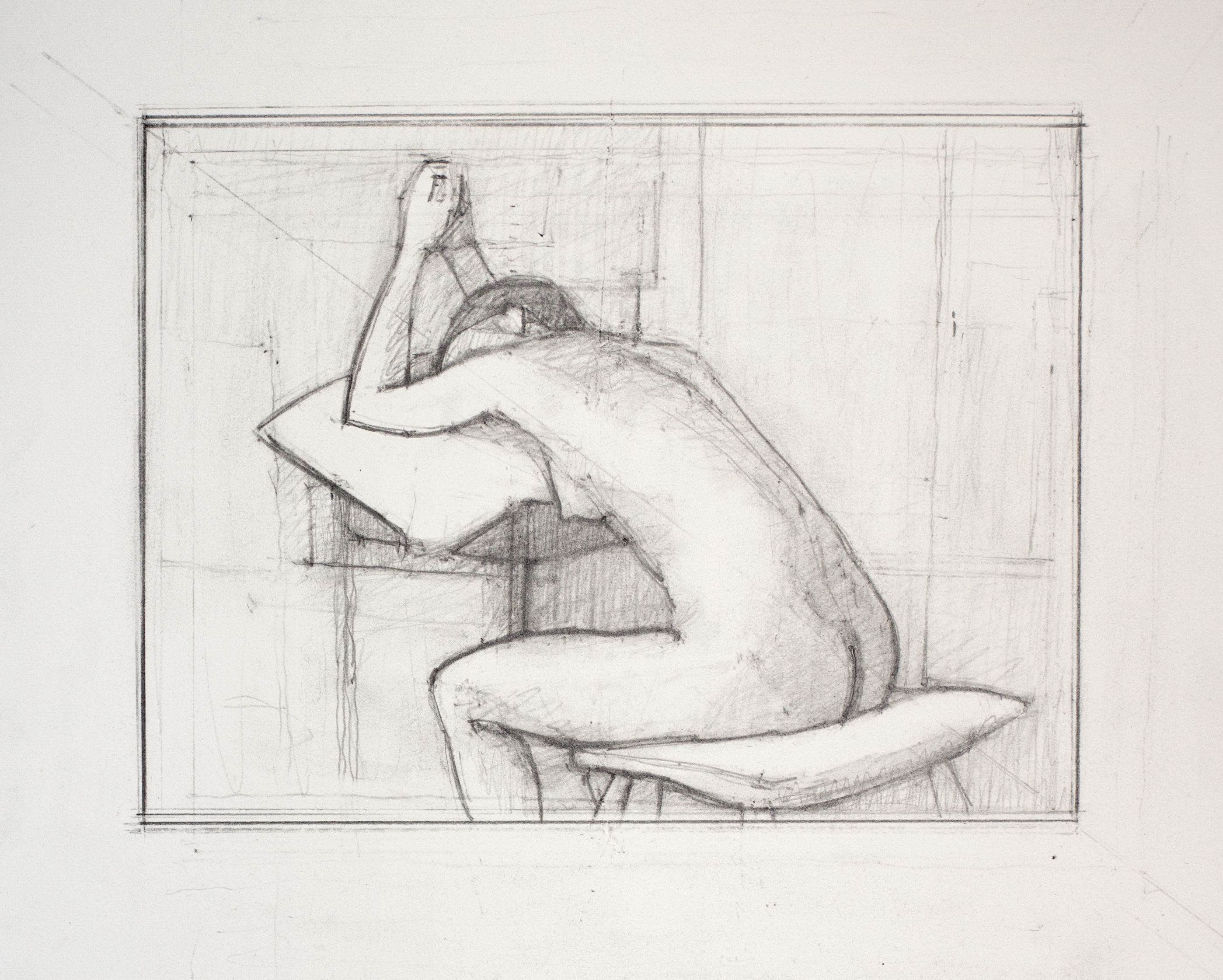 Study for Reclining Back V, 2014