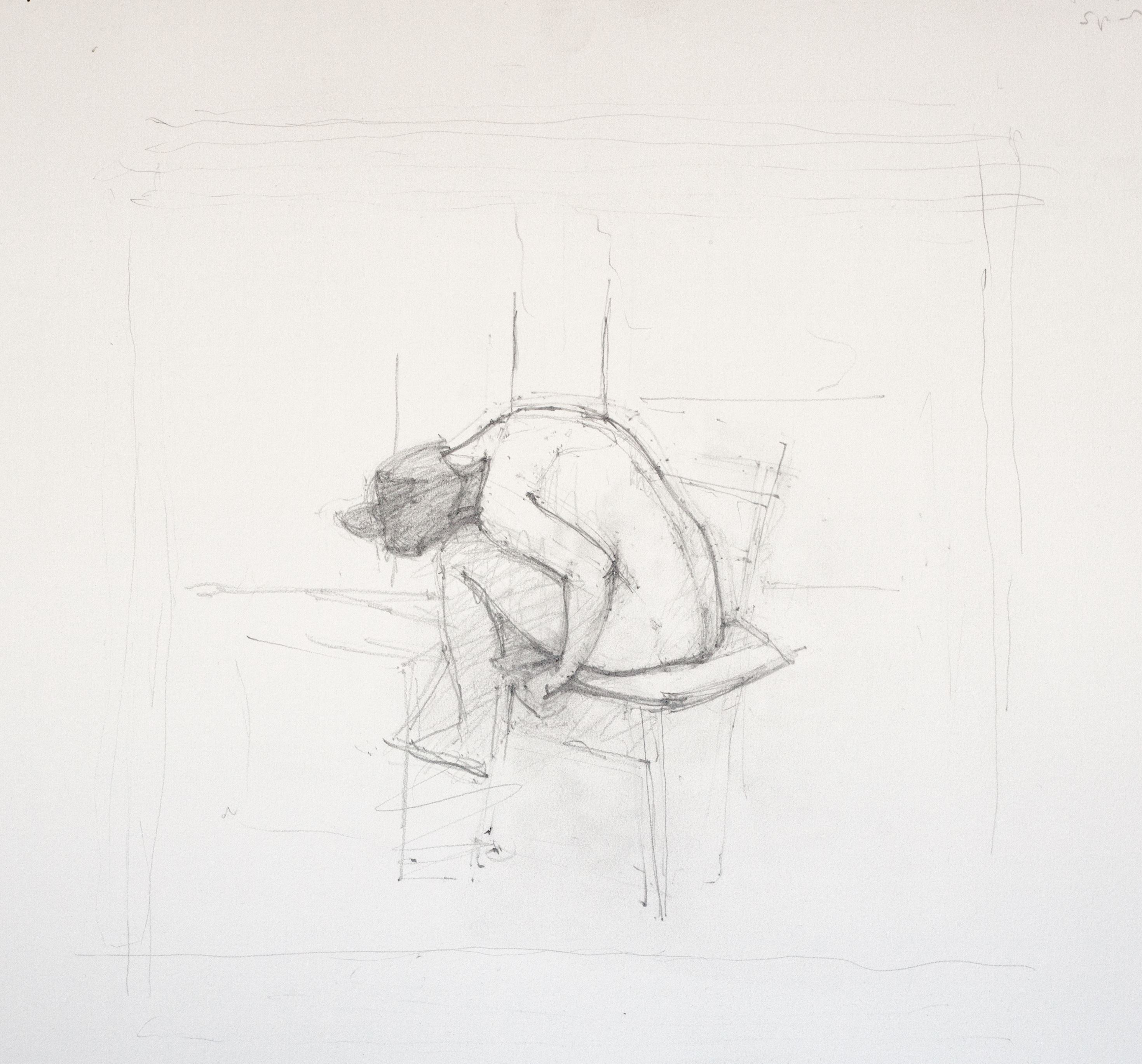 Study for Reclining Back II, 2013
