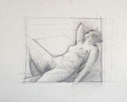 Reclining nude, Against Light, 2009