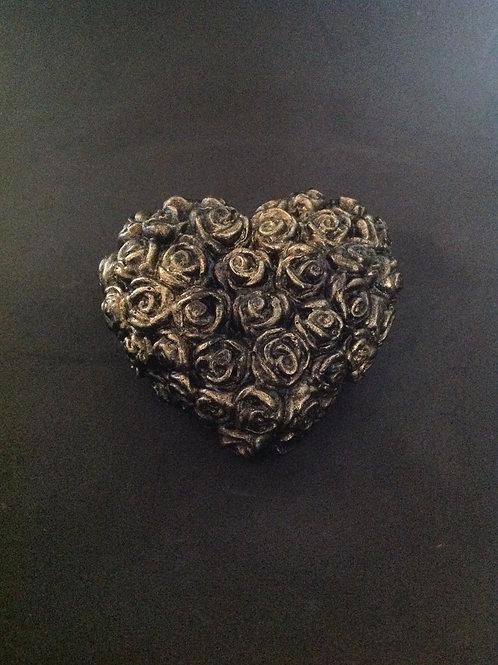 Coração com Mini Rosas