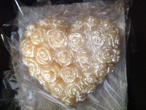Coração de Mini Rosas Delicadeza
