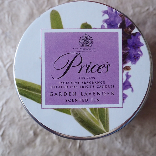 PRICE'S 'Garden Lavender' candle tin
