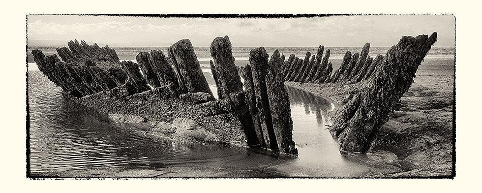 'Shipwreck at Low Tide' - Fine Art Print