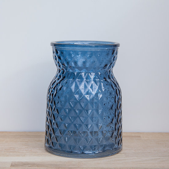 Blue Handtied Glass Vase (Small)