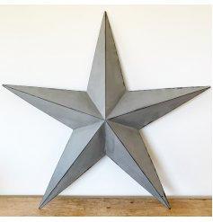Grey Metal Barn Star - 32cm