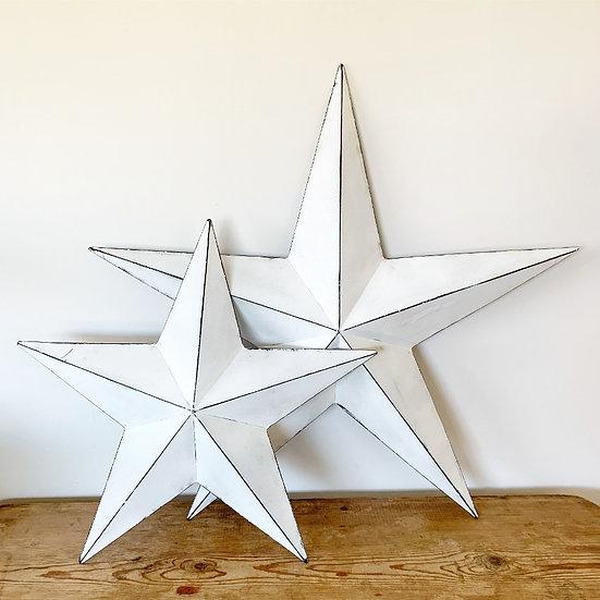 Rustic  White Barn Star 32cm