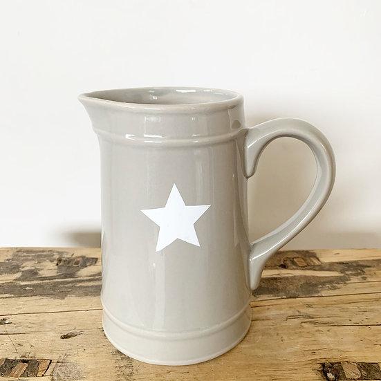 Grey Ceramic Star Jug