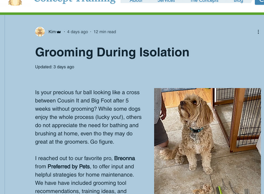 RESOURCE: Grooming During Isolation