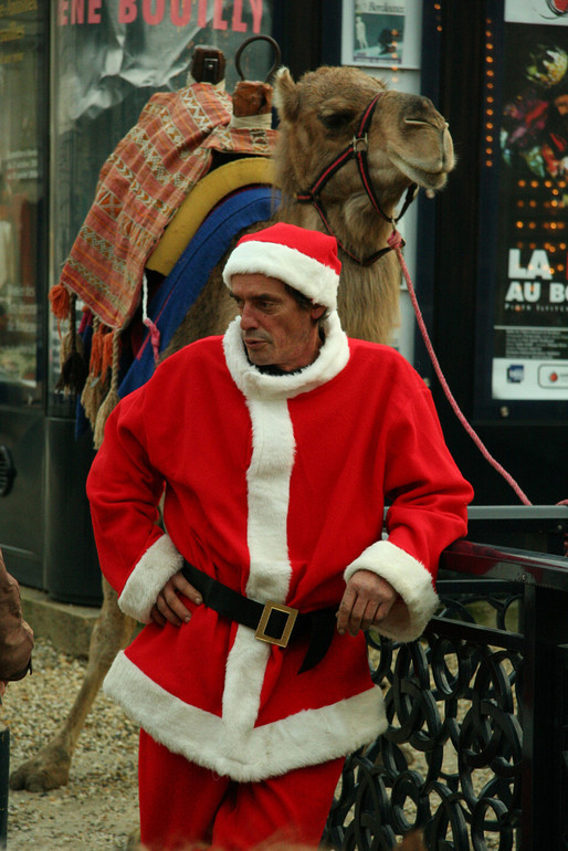 Weihnachtsmann in Bordeaux