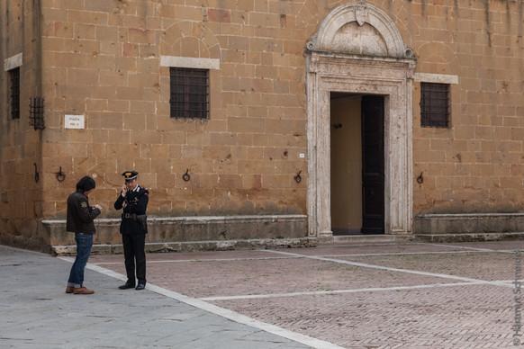 Straßenszene in Siena