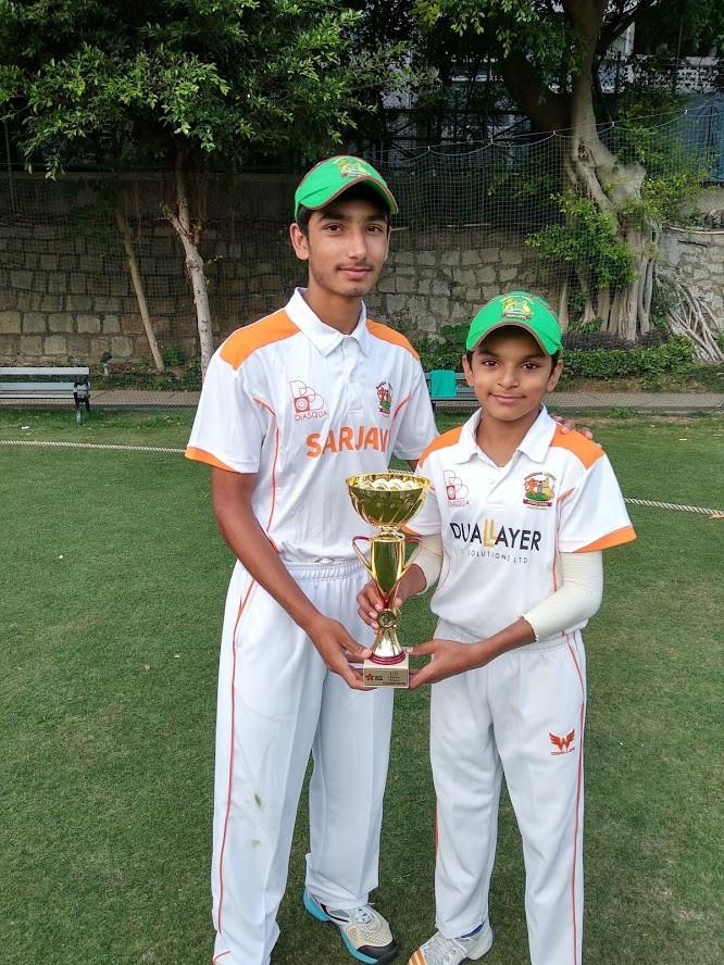 U17 Tigers Captain Jahangir Khan with Farhan Hassan Khan.