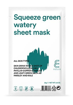 ENATURE Squeeze Green Watery Sheet Mask